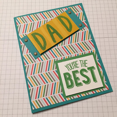 Layered Letters Fathers Day Friendly Wishes Masculine Card Idea