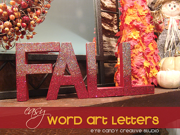 word art letters, fall letters, fall decor, decorating for fall, fall decor