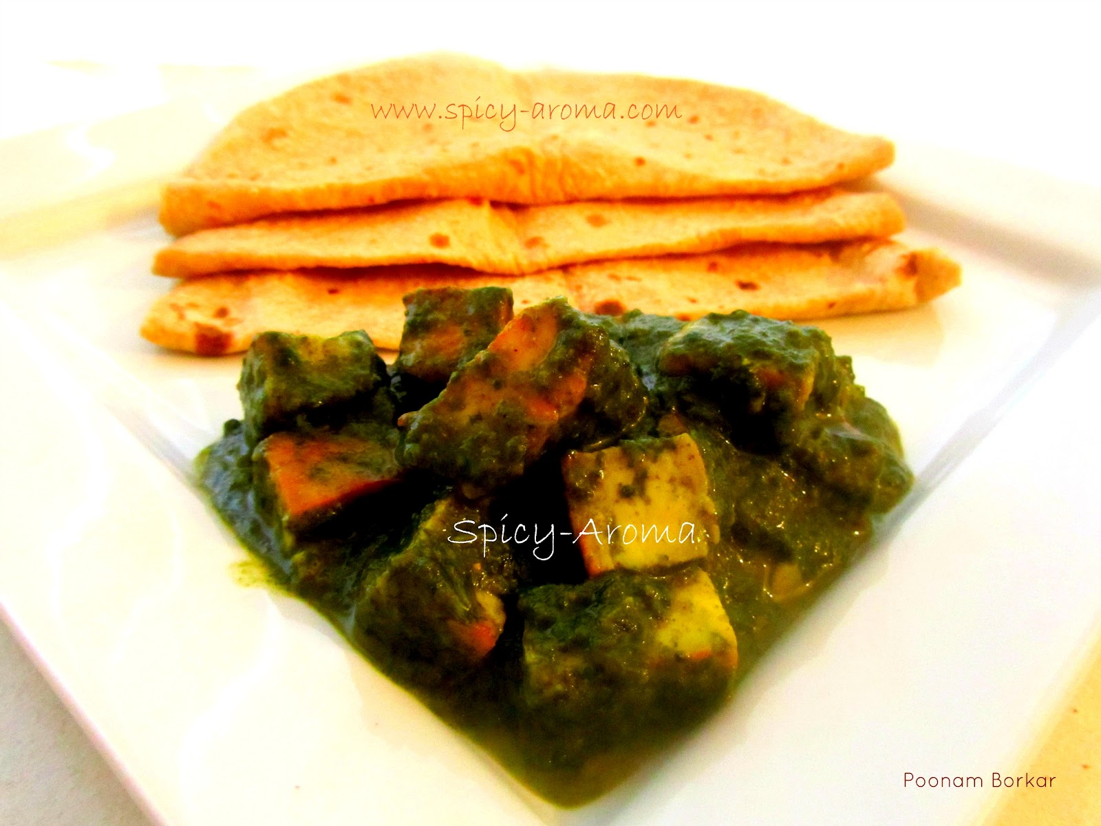 Palak Paneer / Spinach and Cottage Cheese Curry / Palak Paneer Recipe ...