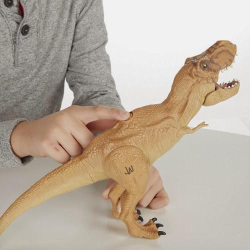 JUGUETES - JURASSIC WORLD : Jurassic Park  Tyrannosaurus Rex | Mandíbulas Feroces | T-Rex | Titan | Figura - Muñeco Producto Oficial Película 2015 | Jurassic Park | Hasbro B1156 A partir de 4 años