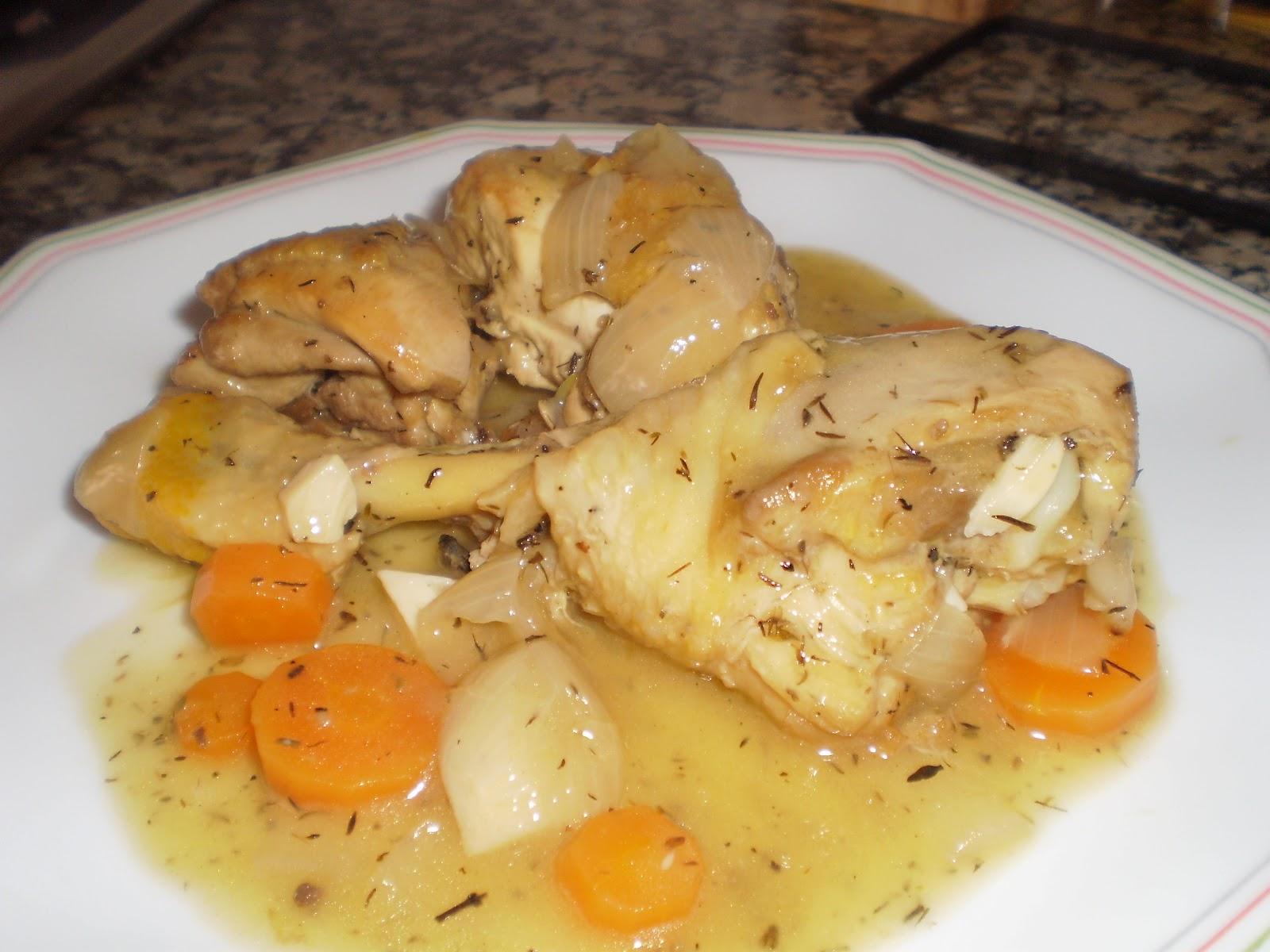 Cocina sin tonterias pollo de corral guisado - Pollo de corral guisado ...