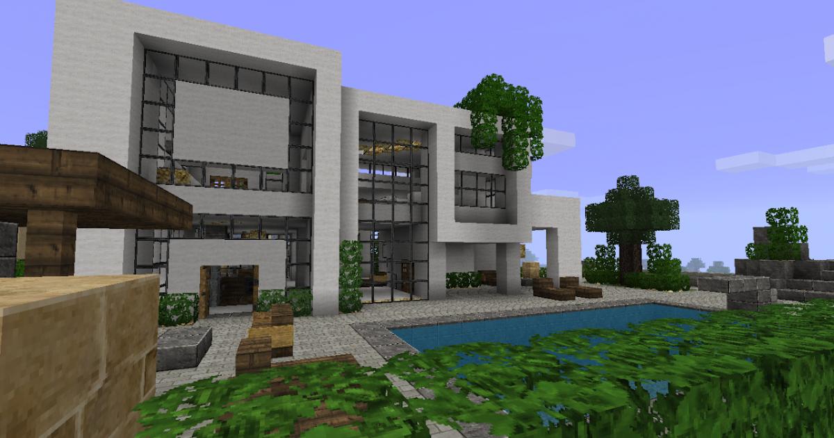 Minecraft france maison d 39 architecte minecraft - Maison moderne sur minecraft ...
