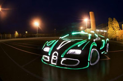 light graffiti bugatti