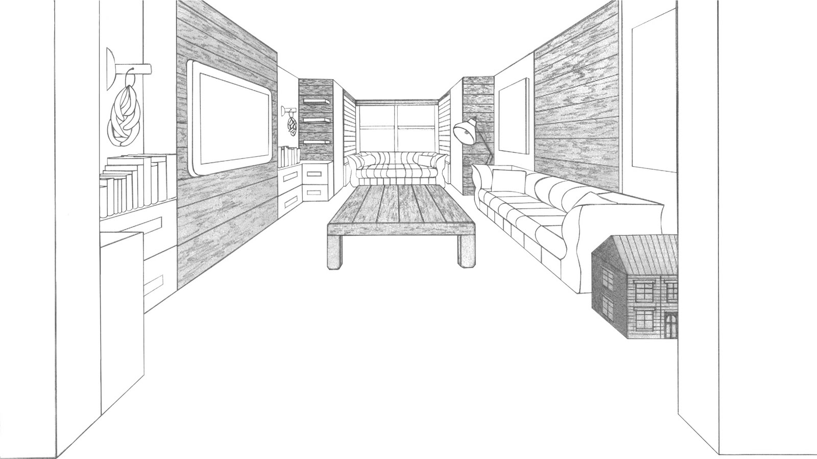 interior design drawing living room architecture student living