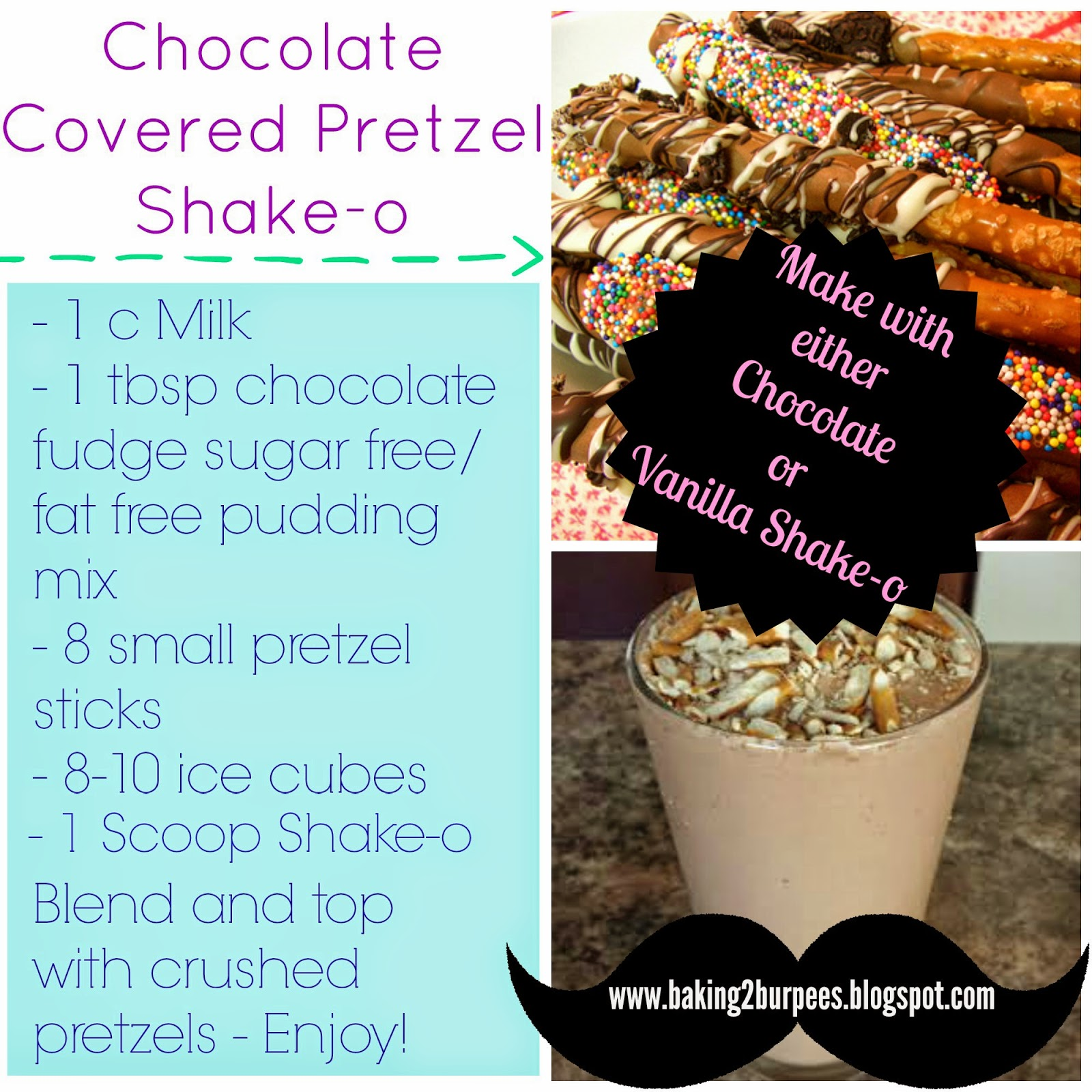 250 calories, chocolate covered pretzel, chocolate shakeology, dramatic results, Erin Traill, fit mom, low calorie dessert, meal replacement, success story, weight loss, weight watchers