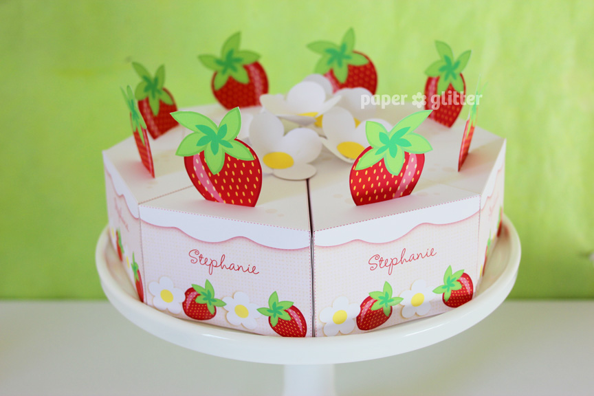Introducing Printable Paper Cakes By Paper Glitter