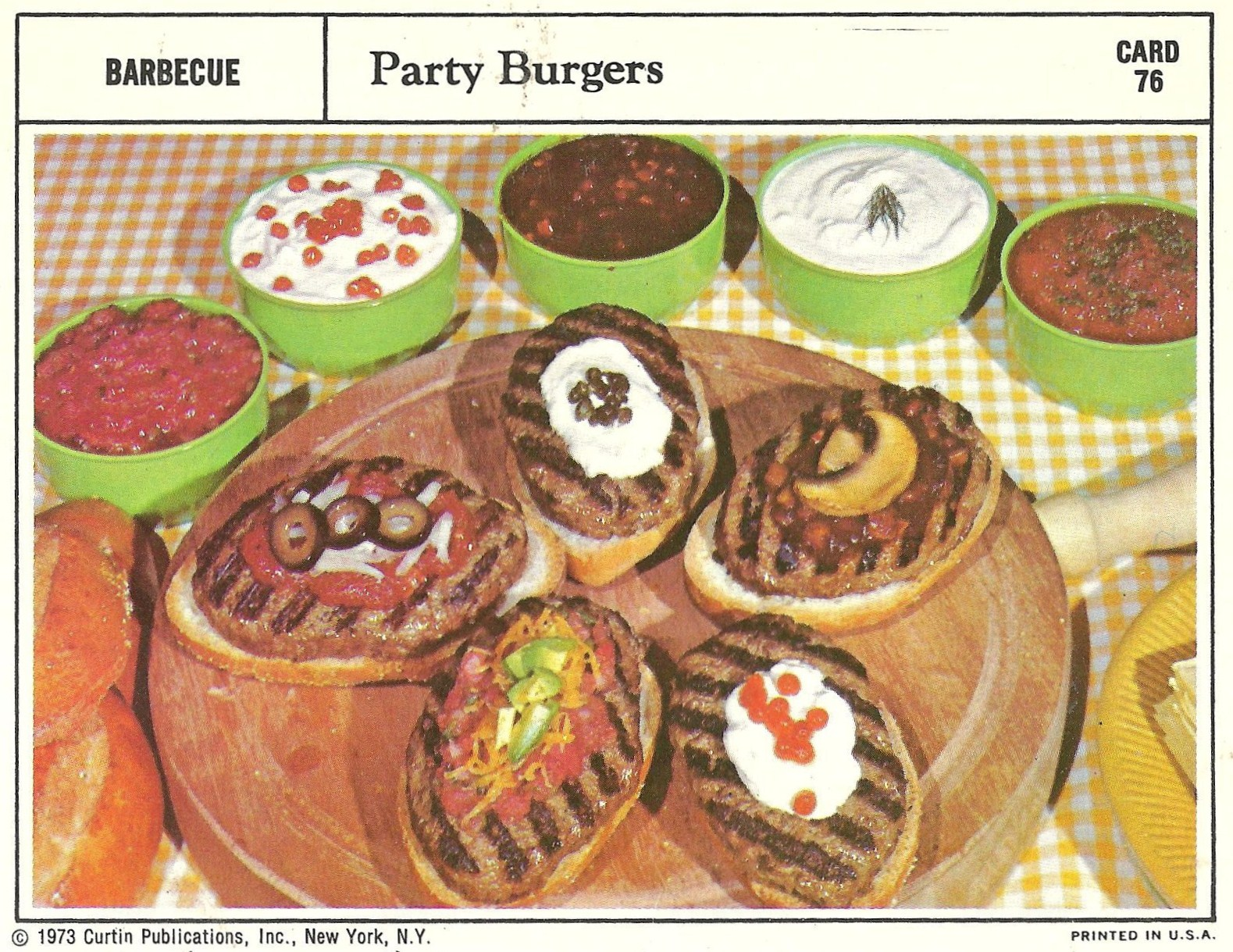 Bad and ugly of retro food 1970s finest recipe cards 17 these look like those frozen salisbury steak meals with the grill lines painted on them same shape and color forumfinder Gallery