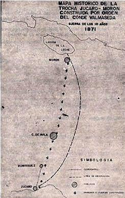 Primer mapa Trocha Júcaro-Morón