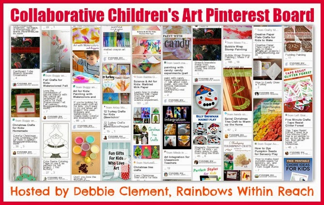 Collaborative Pinterest Board for Children's Art (Process over Product) hosted by Debbie Clement