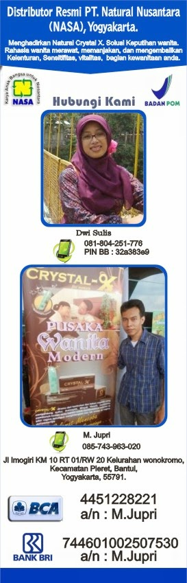 distributor resmi crystal x asli nasa