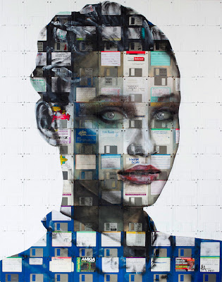Floppy Disk Portraits by Nick Gentry Seen On www.coolpicturegallery.us