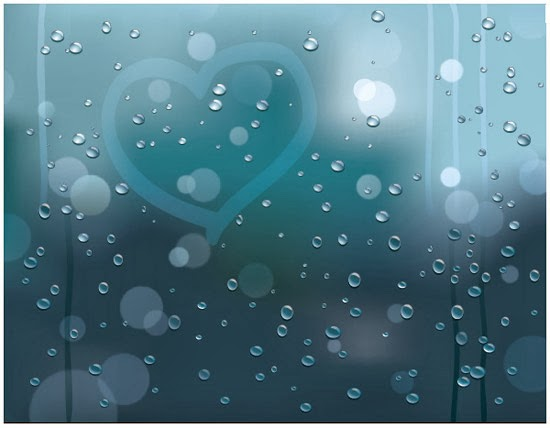 Rainy Window Vector Background