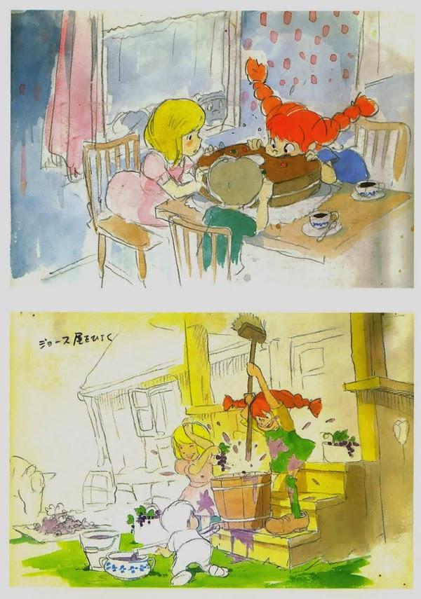 Pippi Calzaslargas al estilo Hayao Miyazaki