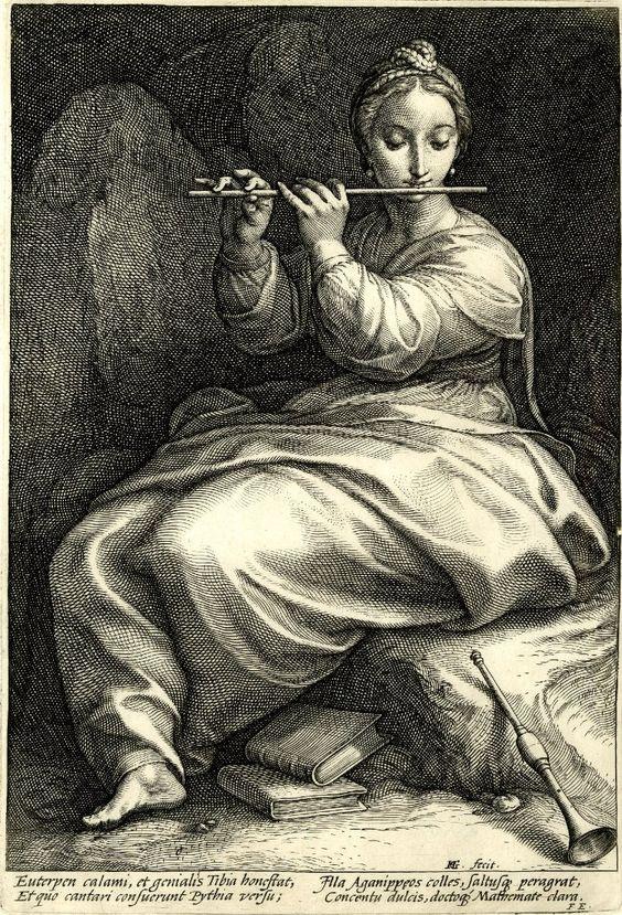 Me encantó esta Euterpe, tan serena y concentrada en sus instrumentos teúrgicos.