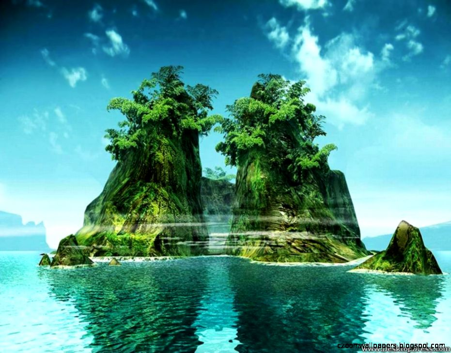 Desktop Wallpapers » Natural Backgrounds » Island » www