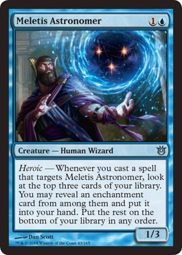 Magic the Gathering blue creature Heroic card draw