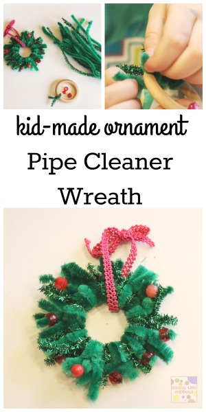 Pipe Cleaner Christmas Wreath Ornament | School Time Snippets