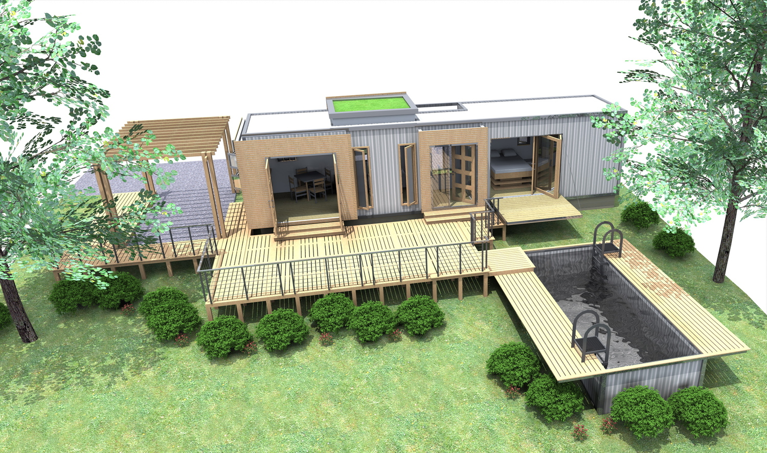 Shipping Container Homes: 40ft Shipping Container Home Eco Pig  #778F3C 1500x886 Banheiro De Luxo Container