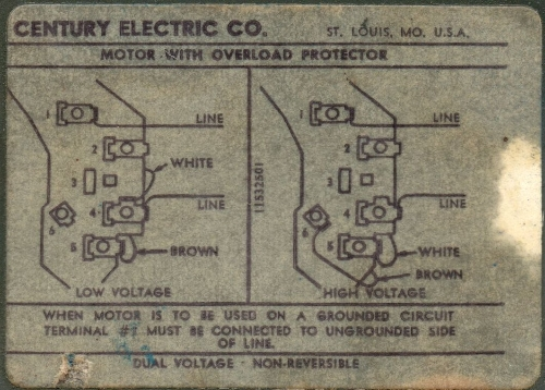 century ac motor wiring schematic wiring diagram Pool Pump 230 Volt Wiring Diagram