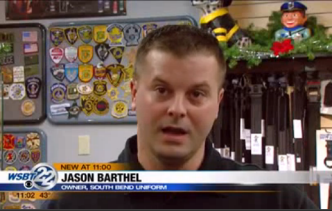 Photo of a very white cop on the news with his mouth hanging open