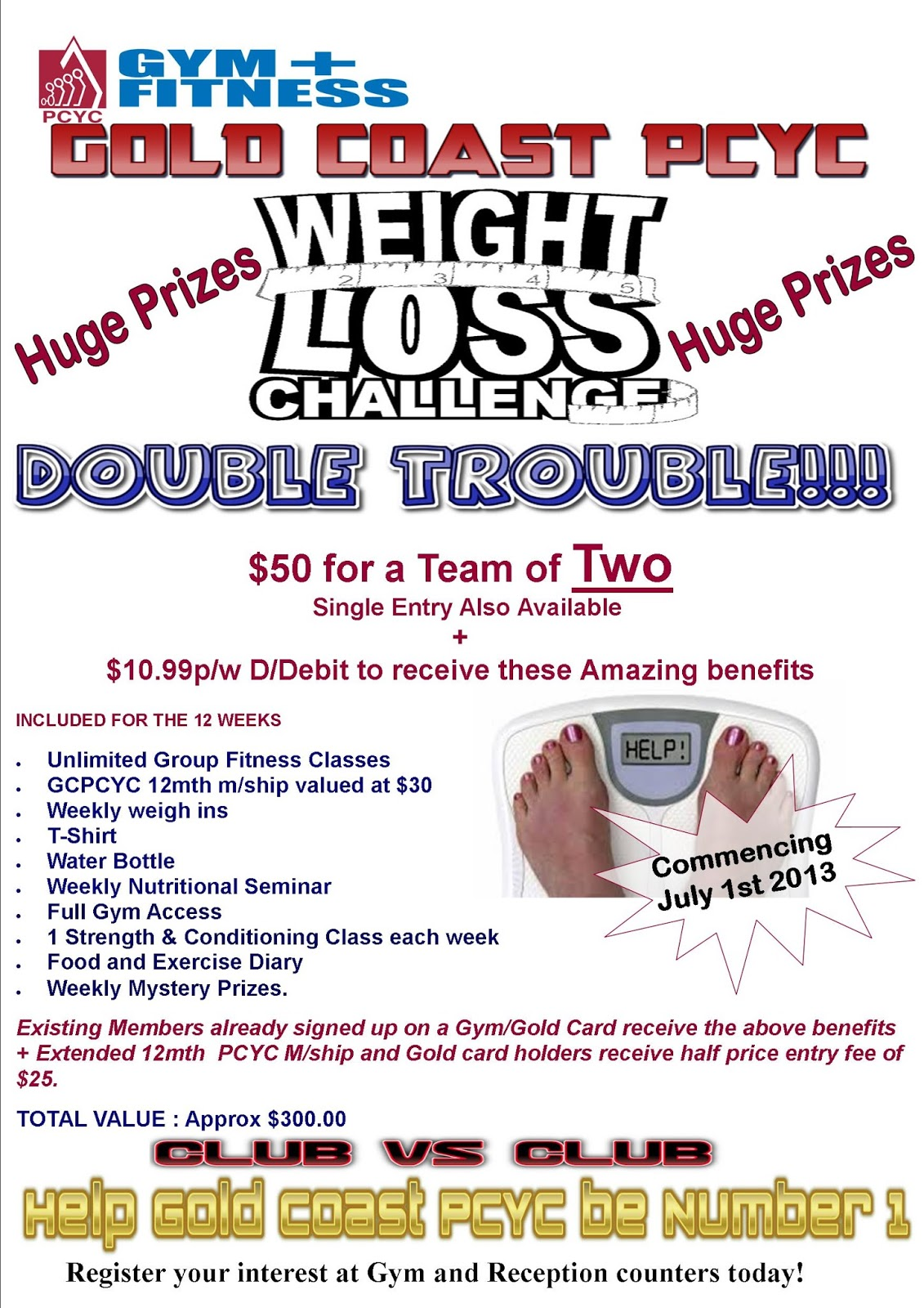 Gold coast pcyc gold coast pcyc weight loss challenge for Weight loss challenge flyer template