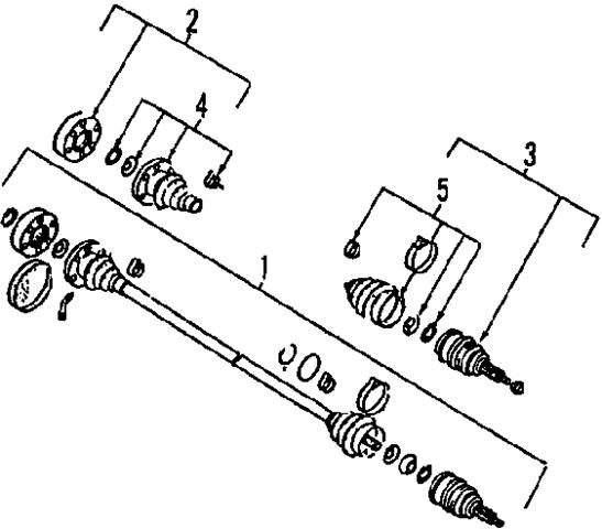 2004 volkswagen r32 axle shaft joint diagram