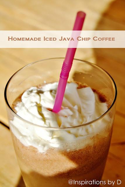 Homemade Iced Java Chip Coffee