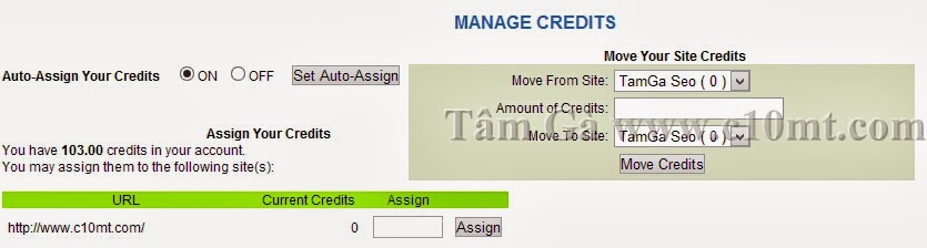 manage credits hitlink traffic website