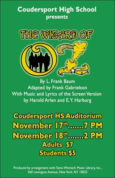 11-17/18 Wizard of OZ, Coudy High School