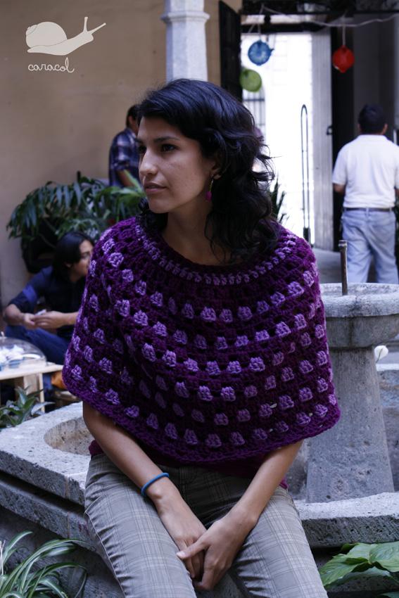 Caracol handmade the free granny poncho pattern - Toca de ganchillo ...