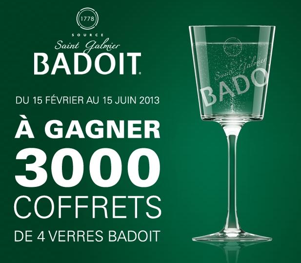 3000 coffrets de 4 verres Badoit
