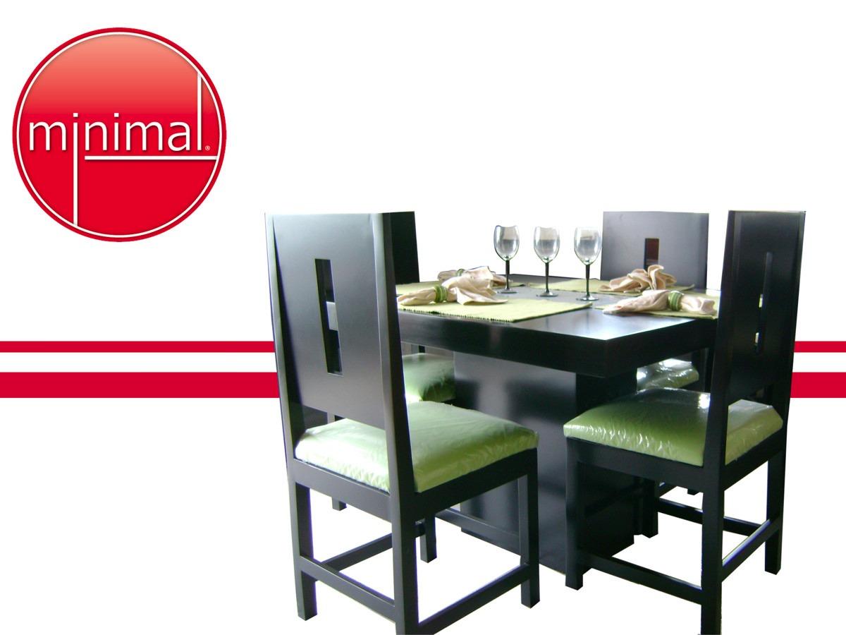 Comedores minimalistas color chocolate for Comedores minimalistas 6 sillas