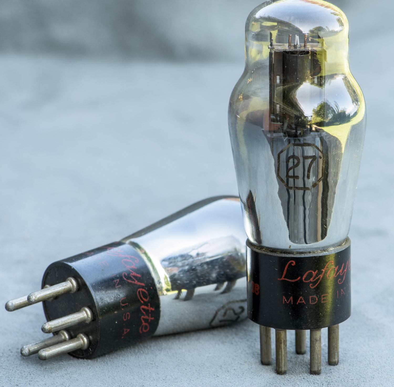 Vinylsavor Tube Of The Month 27 Radio Builder Audio Amplifier6 Simple Circuits Lafayette Branded 27s