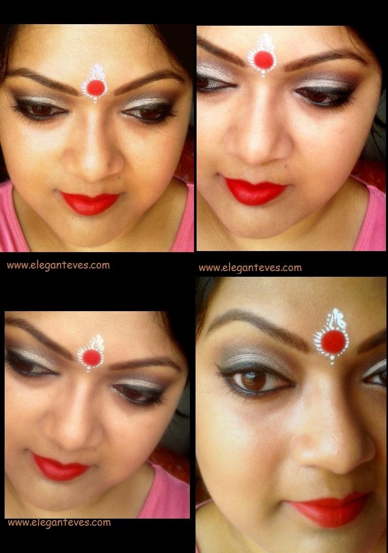Bengali Bridal Eye Makeup Soft Taupe Smokey Eyes Elegant Eves
