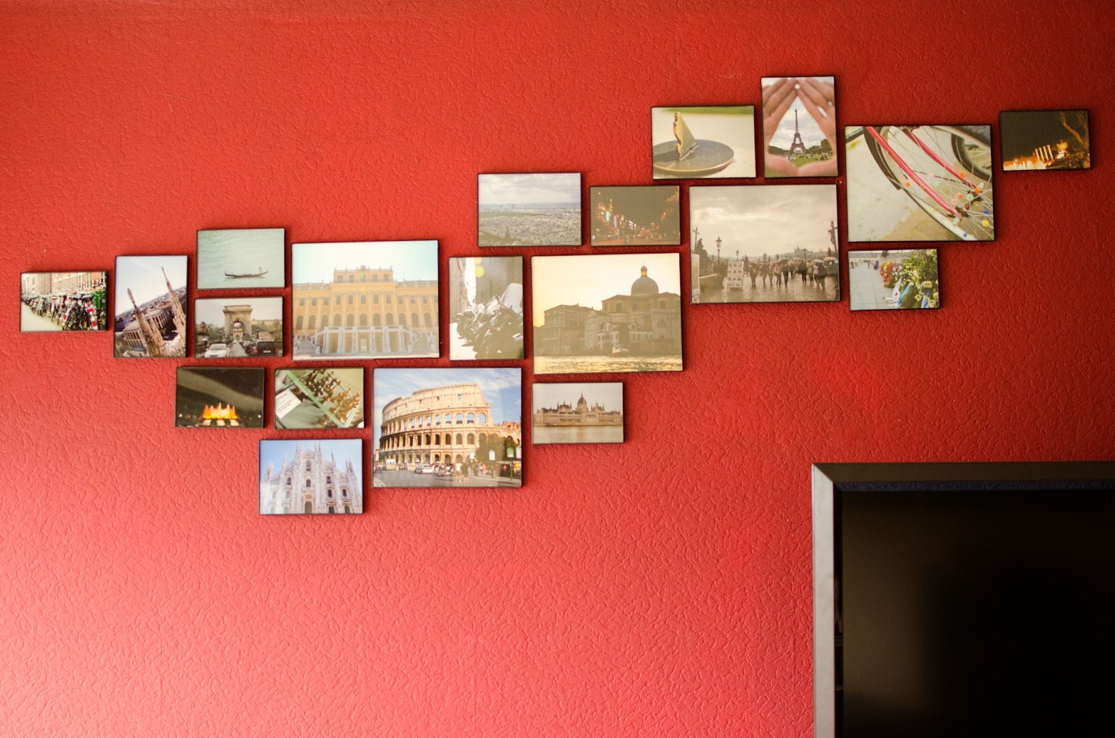 there and back again an air force tale hanging a frame collage like a pro. Black Bedroom Furniture Sets. Home Design Ideas