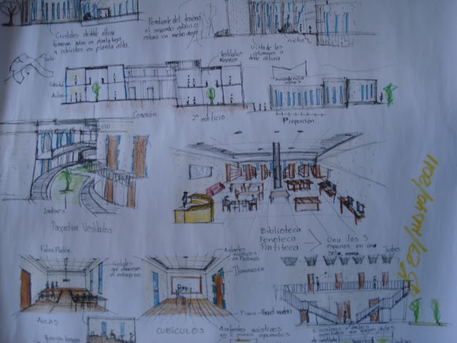 Proceso de dise o arquitect nico de una escuela superior Escuela arte 4 diseno de interiores