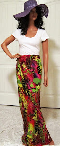 Red Tropical Skirt or Sarong