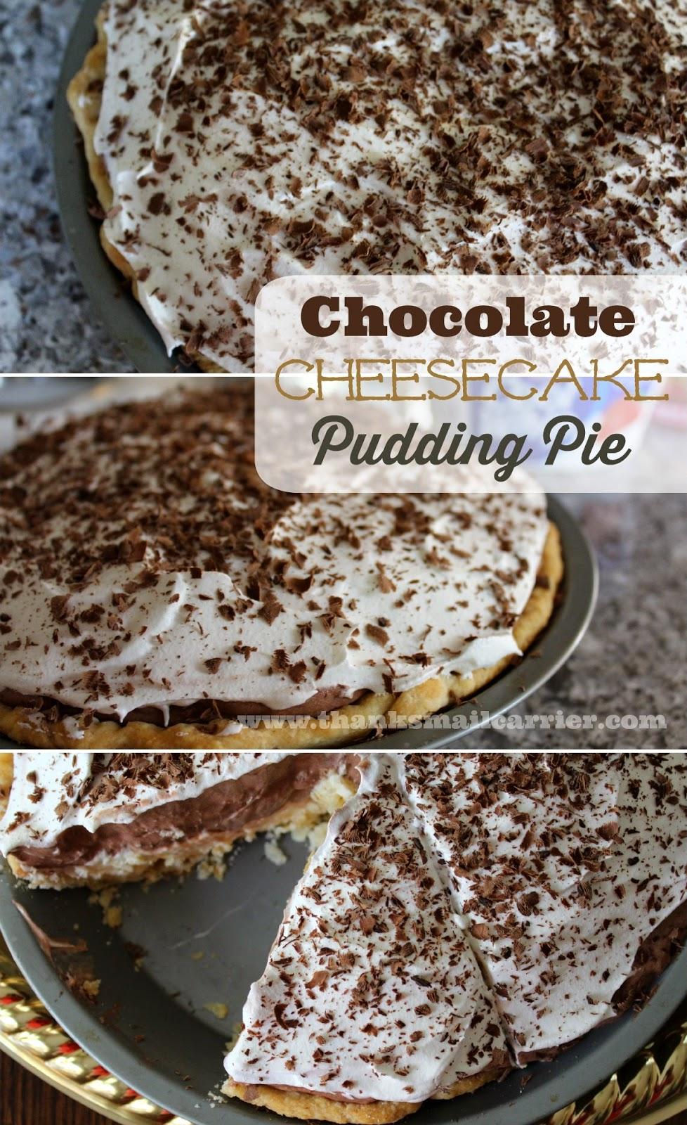Chocolate Cheesecake Pudding Pie