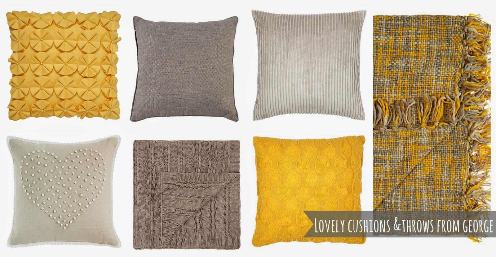 gorgeous cushions throws from george at asda k elizabeth
