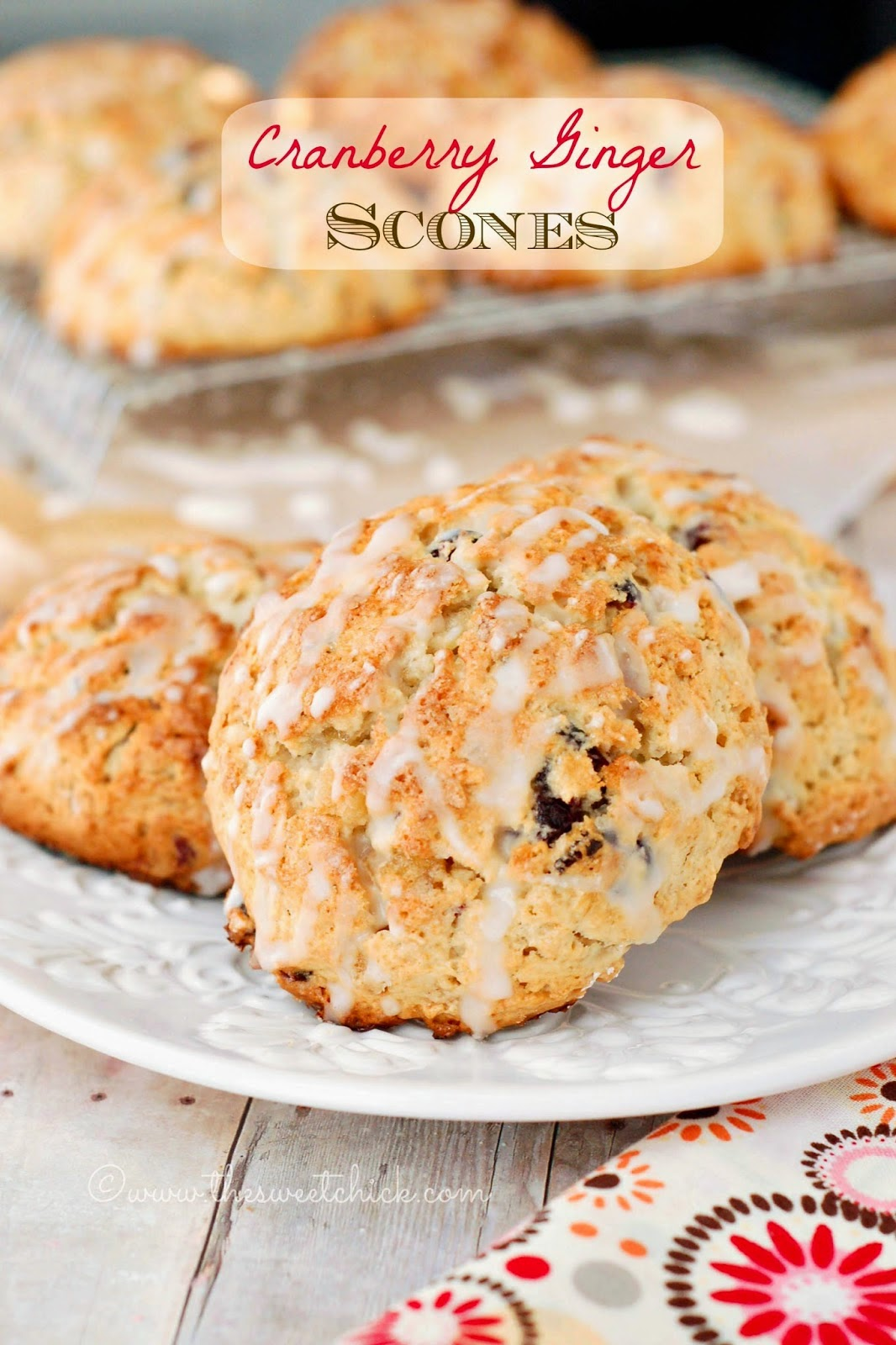 Cranberry Ginger Scones by The Sweet Chick