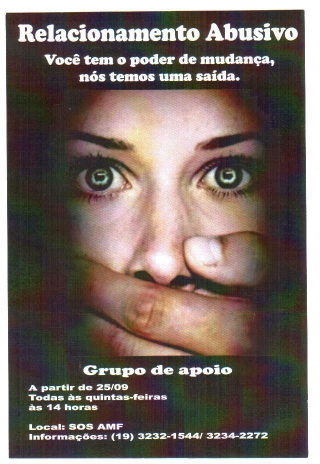 Grupo de Apoio Semanal no SOS Ação Mulher e Família sobre Relacionamento Abusivo
