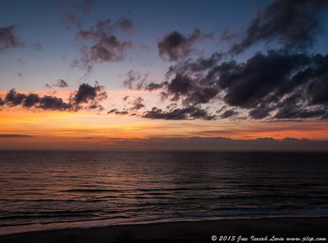 seashore sunrise, horizontal