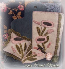 Sewing Bliss Wool Applique Sewing Collection-Sewing Case, Pincushion and Scissor Case