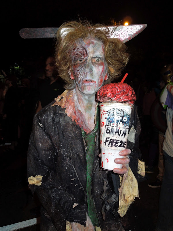 Brain Freeze zombie West Hollywood Halloween Carnaval 2012