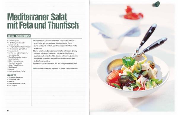 """Mediterraner Salat mit Feta und Thunfisch aus """"Brain Food"""""""