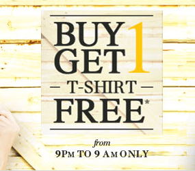 Trendin : Buy 1 T-shirt and get 1 Free || Rs 150 cashback from BuyToEarn