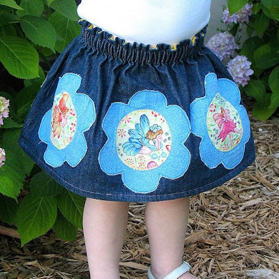 Flower Fairy Applique Skirt from Craftiments.com