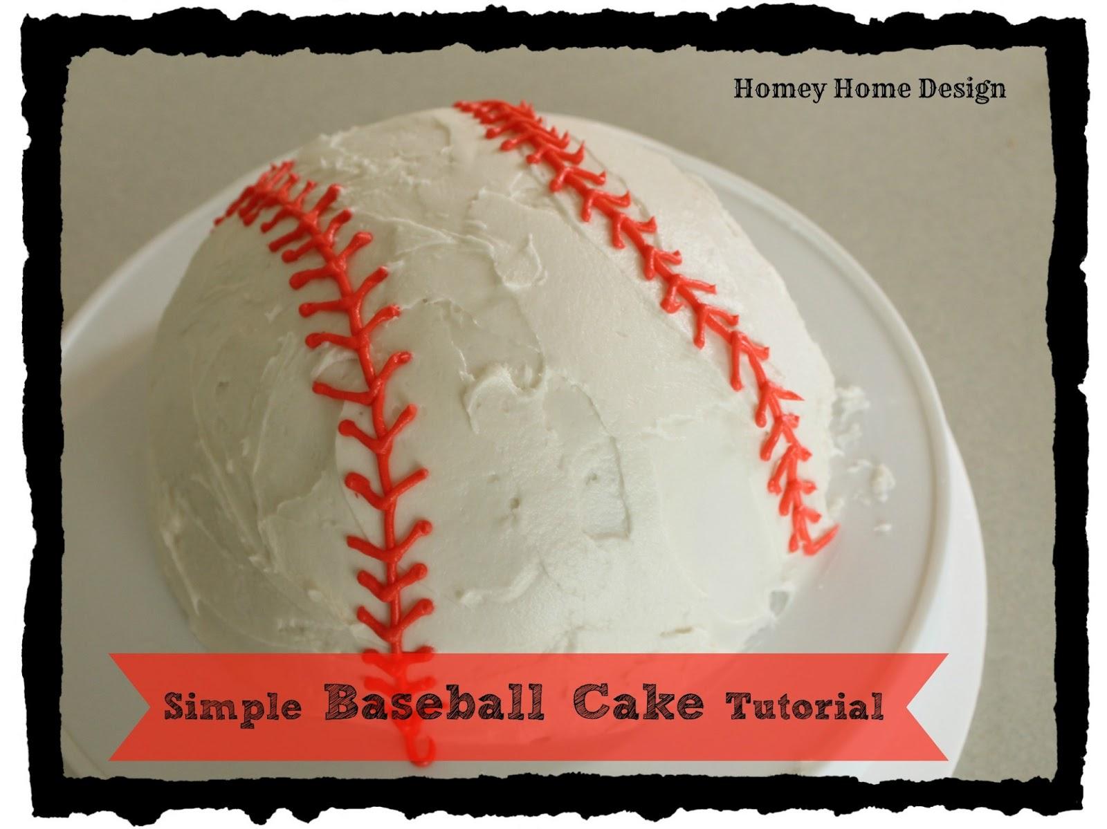 homey home design Simple Baseball Cake