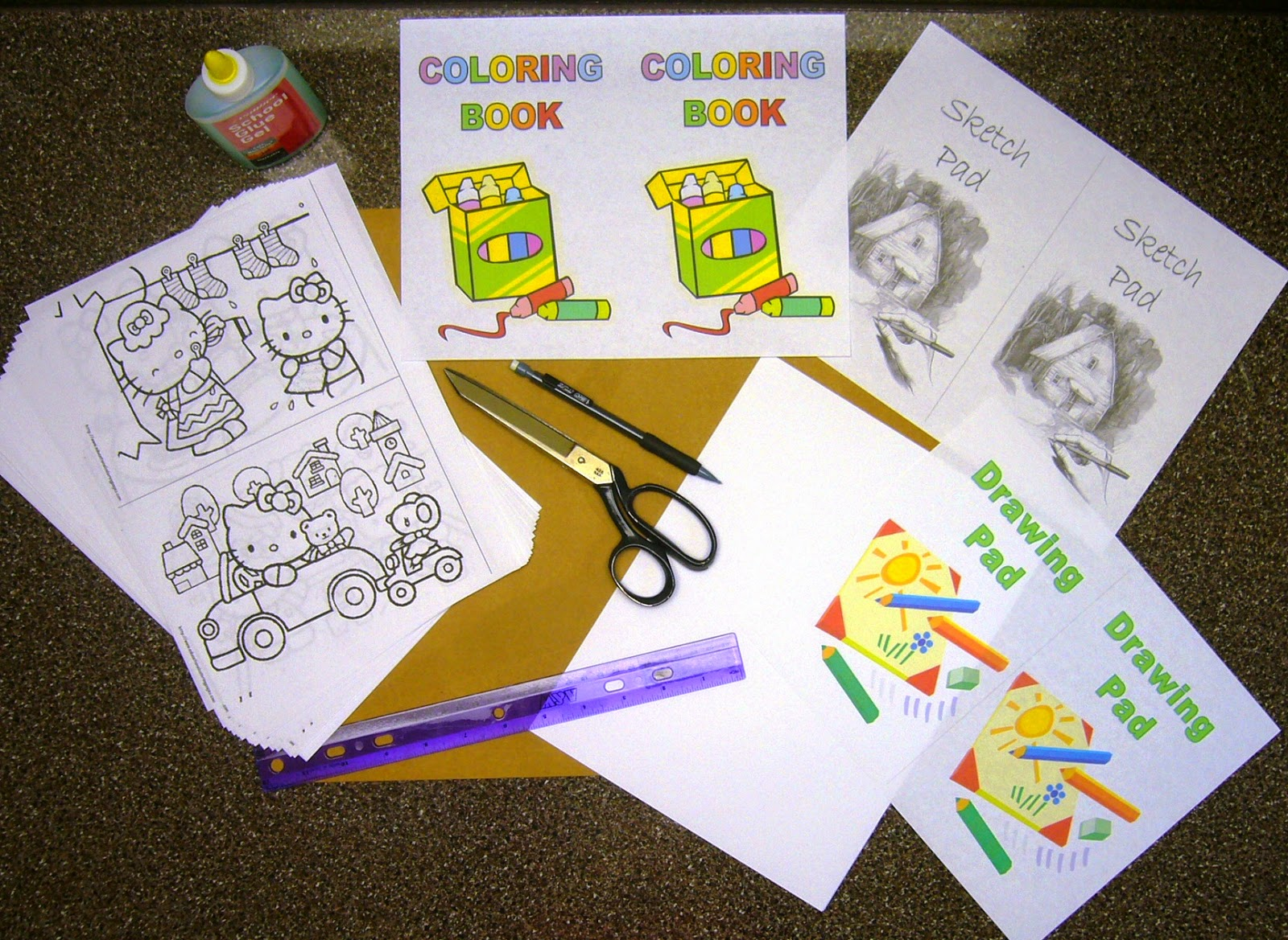 How to make coloring books at home