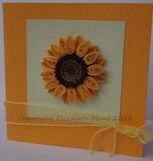 Quilled sunflower Elizabeth Moad